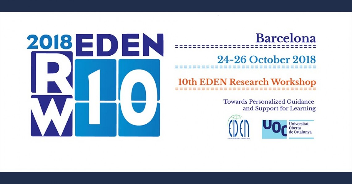 EDEN research workshop: Personalized Guidance and Support for Learning