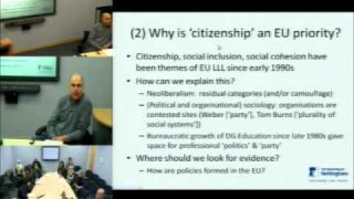What does 'theory' explain about the European Union's lifelong learning policies?